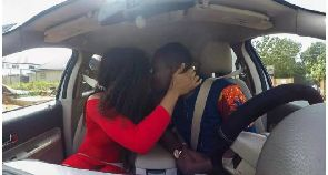 Celebrity blogger Zionfelix caught kissing actress Baby Blanche in a car
