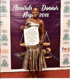 Fella Makafui honoured by law students for her philanthropic works