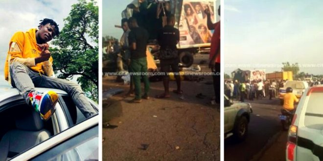 An Eyewitness Narrates Exactly What Caused The Accident In Tamale Involving Zylofon Cash Staff and Fancy Gadam Fans