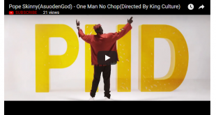 Pope Skinny (AsuodenGod) – One Man No Chop (Official Video)