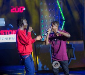 Stonebwoy and Kelvynboy dances 'Do The Dance' whiles performing at Germany (Video)
