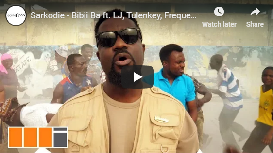 Sarkodie ft. LJ, Tulenkey, Frequency, K. Mole, ToyBoi, Yeyo, Amerado, 2Fyngers, OBkay, CJ – Bibii Ba (Official Video)