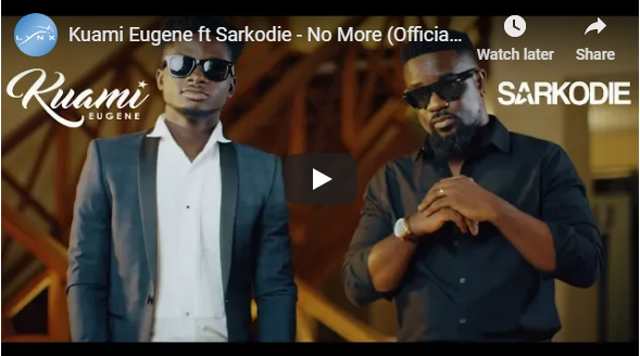 Kuami Eugene ft Sarkodie – No More (Official Video)
