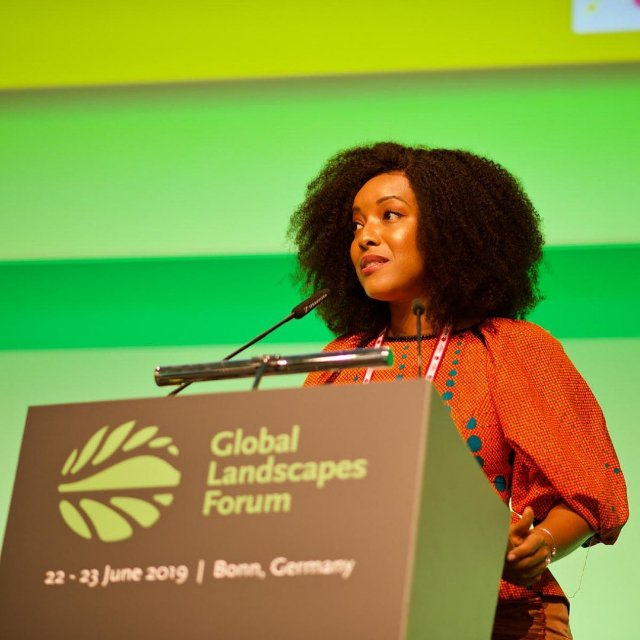 Photos: Joselyn Dumas addresses climate change forum in Bonn, Germany