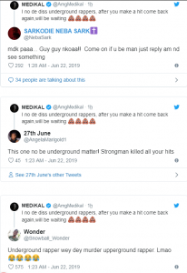 Social media users reacts after Medikal replied Strongman over his diss song to himM