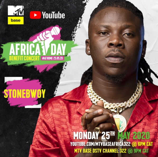 """Stonebwoy, Burna Boy, Manifest, Nasty C and more to perform """"Africa Day Benefit Concert At Home"""""""